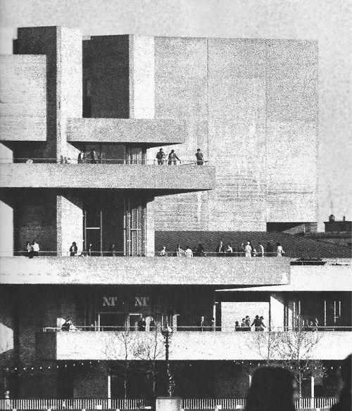National Theatre, London  1967, Denys Lasdun
