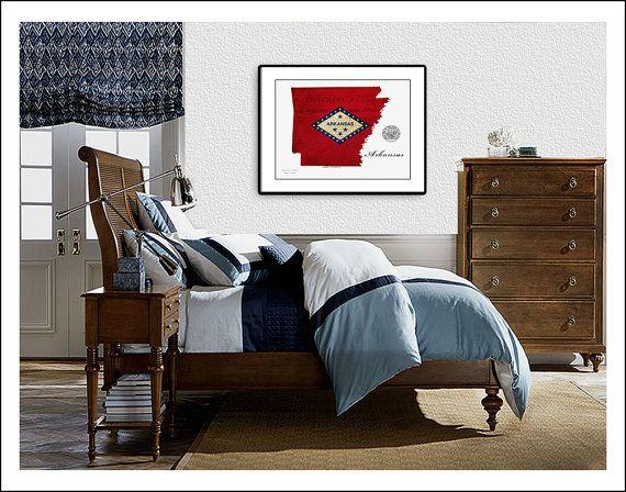 Arkansas Map Map of Arkansas Arkansas Little by WaterColorMaps2, $25.00