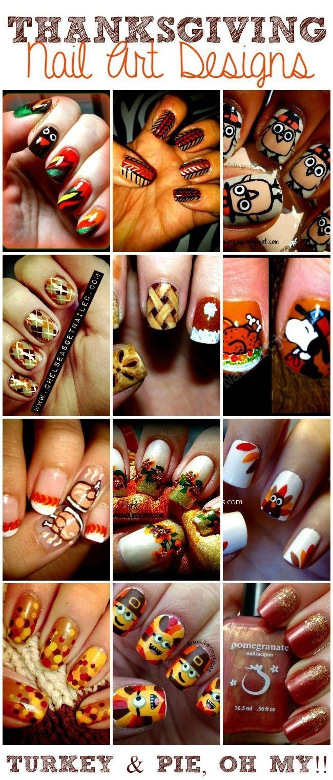 Amazingly cute and fabulous nail art designs - Thanksgiving Nail Art Designs Cute Nail Ideas For Thanksgiving