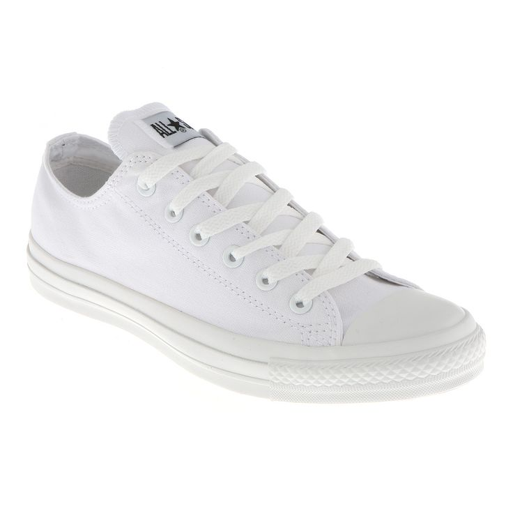 Converse All Star Ox Low White Mono Canvas Exclusive Shoes Trainers Office