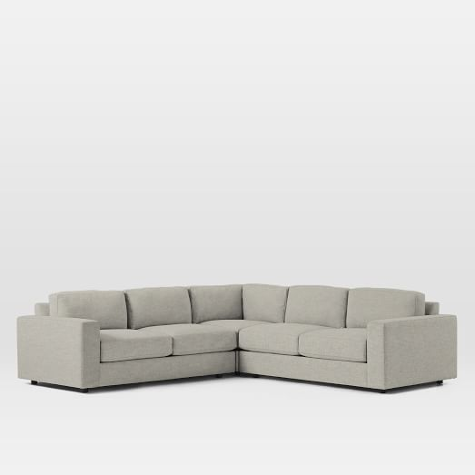 Urban Set 5: Left Arm 2 Seater Sofa + Corner + Right Arm 2 Seater Sofa, Twill, Stone