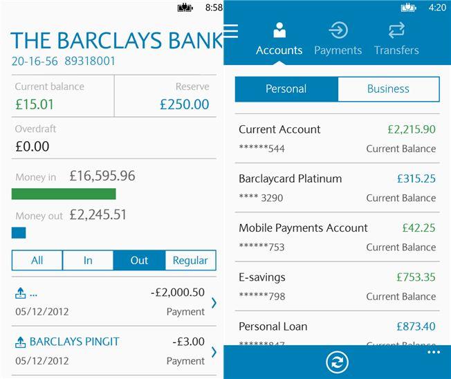 'Barclays Mobile Banking' app arrives on Windows Phone (for UK)