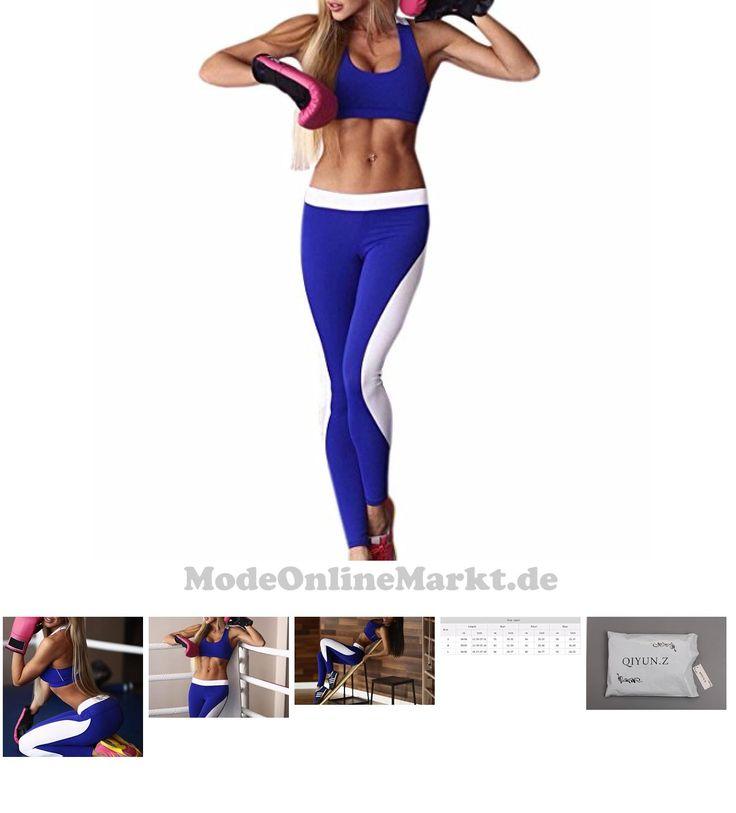   #QIYUN.Z #Frauen #Fitness #Yoga #Set #Sport-Bh #Weste #Leggings #Turnhalle #Blau #Sportlich #Lauf