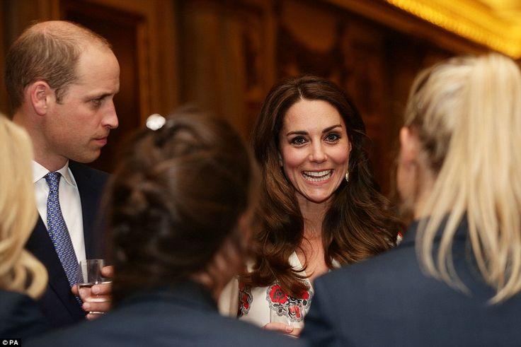 With her glossy brunette locks styled into her signature bouncy blow-dry, Kate Middleton looked stunning as she spoke to the athletes