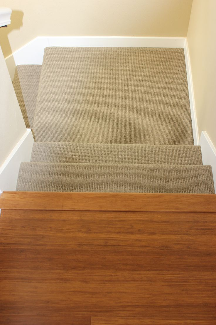 Carpeted Stairs Leading Into Hardwood Laminate Hallway In