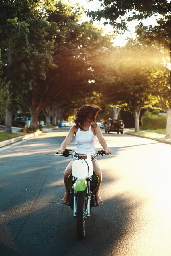 : Girls, Kid Moment, Life, Motorbike  , Kid Photos, Motorcycle, Summer, Barefoot