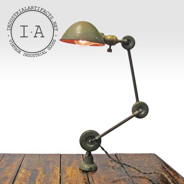 vintage industrial edon desk wall mount articulating. Black Bedroom Furniture Sets. Home Design Ideas