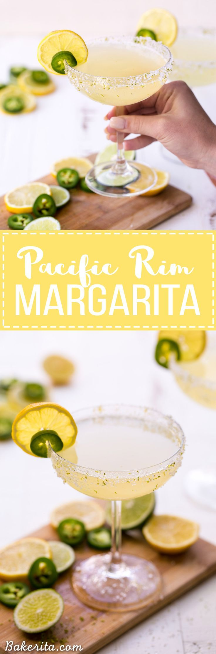 This Pacific Rim Margarita is a refreshing, tropical drink that you'll love sipping on! It's flavored with citrus and has a spicy coconut twist. Enjoy responsibly! #MargaritaOfTheYear #PacificRimMargarita #sponsored by @patrontequila