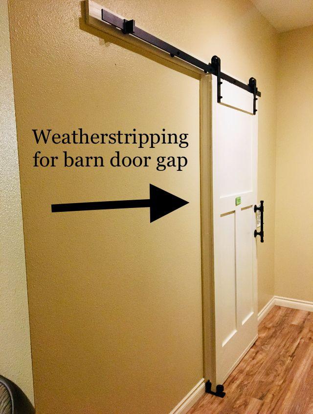 Close Bathroom Barn Door Gap With Weatherstripping Bathroom Barn