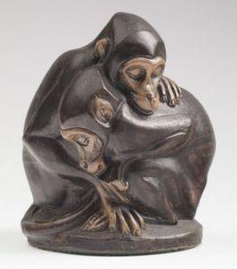 Slapende apen    Labor et Ars.    Joseph Mendes Da Costa ( 1863-1939) & Joost van den Toorn (1954) tentoonstelling van 13-02 t/m 10-05 -2015 in Museum Beelden aan Zee   Scheveningen