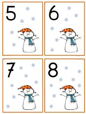 *  getalkaartjes winter