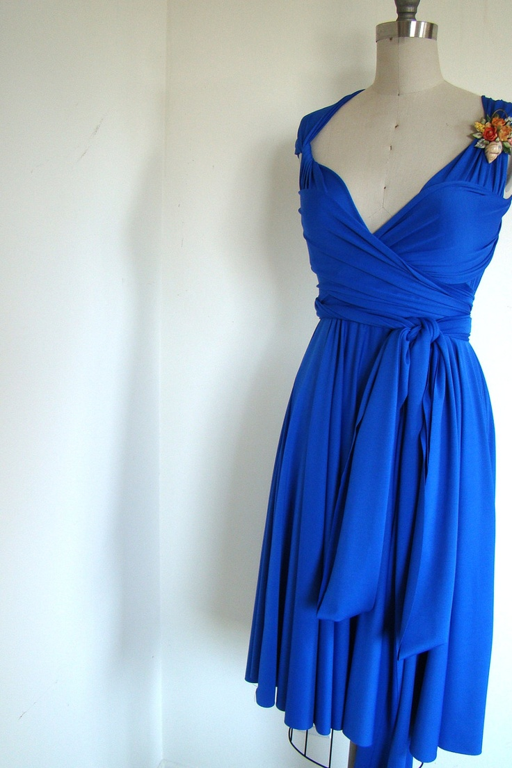 36 best bridesmaid dresses images on pinterest royal blue scorpion bay cobalt blue octopus convertible wrap circle skirt dress you can make it the convertible bridesmaid ombrellifo Choice Image