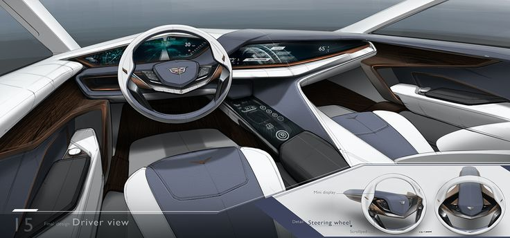 2025 Cadillac Flagship Interior on Behance