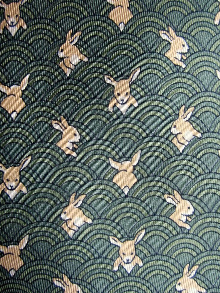 Charming bunnies all over the Hermes tie