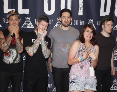 Image result for fall out boy with fans
