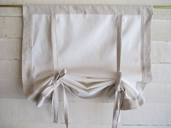 """Cotton Canvas 72"""" Long Stage Coach Blind Swedish Roll Up Shade"""