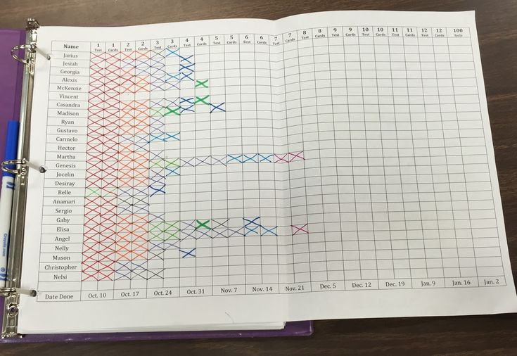 Multiplication Memorization Tracking - How to organize it! Light Bulbs and Laughter Blog