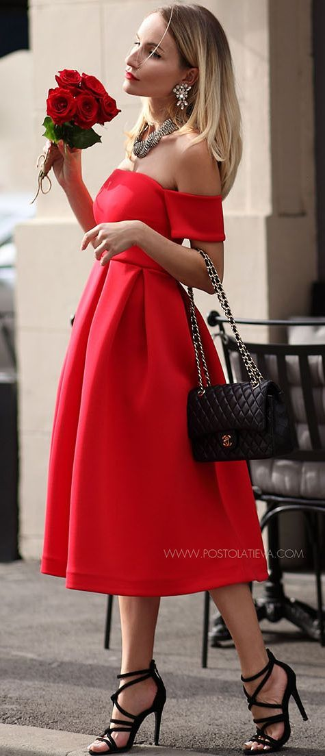 Postolatieva Chic Little Red Dress Fall Inspo
