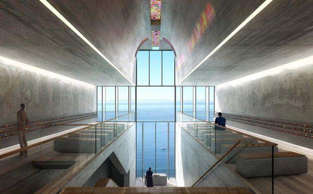 Архитектура дня: концепт церкви-креста на отвесной скале. Изображение № 6.