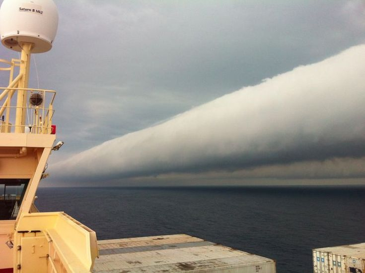 Roll Cloud off Coast of Brazil: Thunderstorms, Cloud Formations, Rolls Cloud, Brazil, Open Water, Vans Of, Photo, Earth Science, The Sea