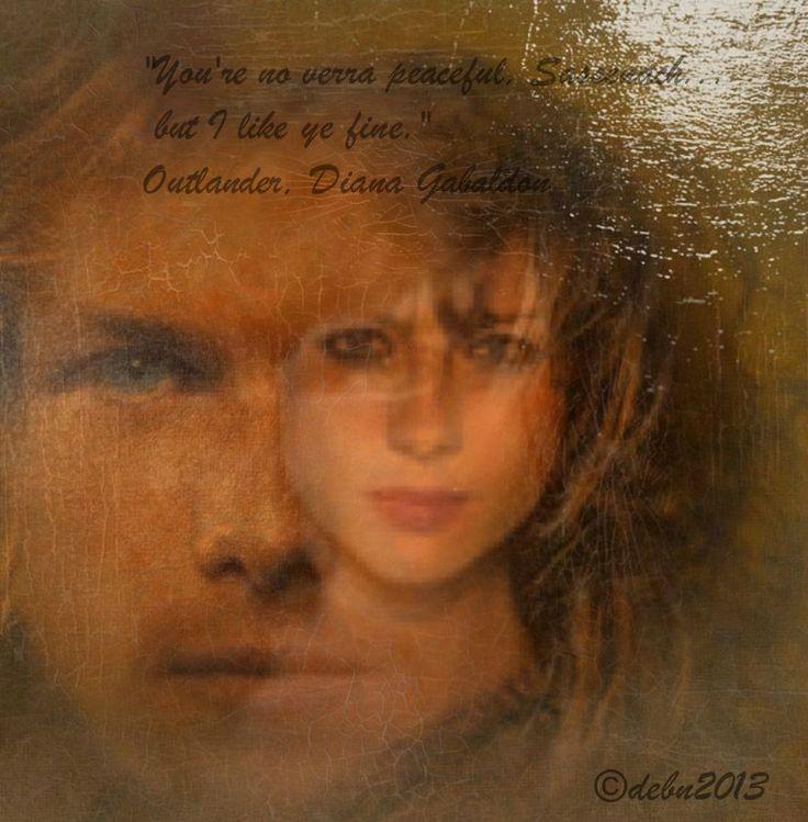 Fan Art: Sam Heughan and Caitriona Balfe aka Jamie and Claire ...
