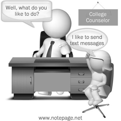 College Counseling Cartoon for Admissions Officers, Kids or Counselors.