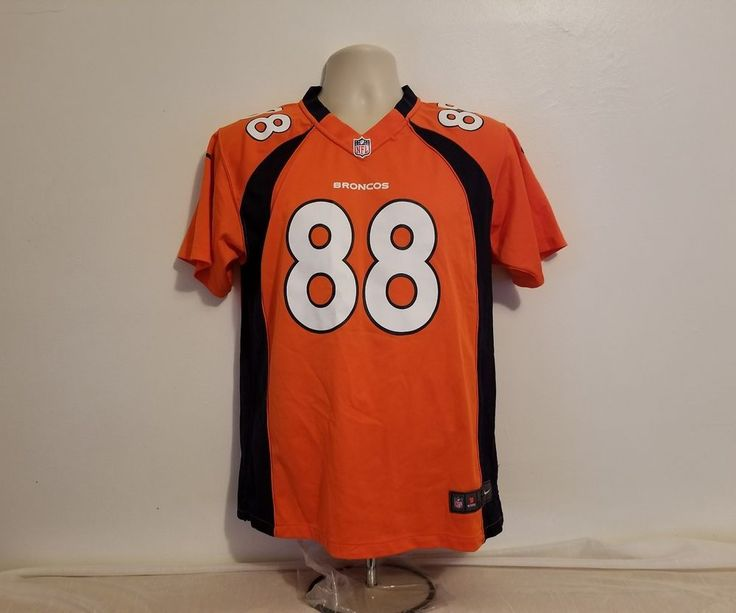 Nike NFL Denver Broncos THOMAS #88 Youth XL Orange Football Jersey #Nike #DenverBroncos