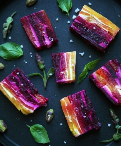 Beet and Goat Cheese Jewels // I'm in LOVE with this idea for a party!