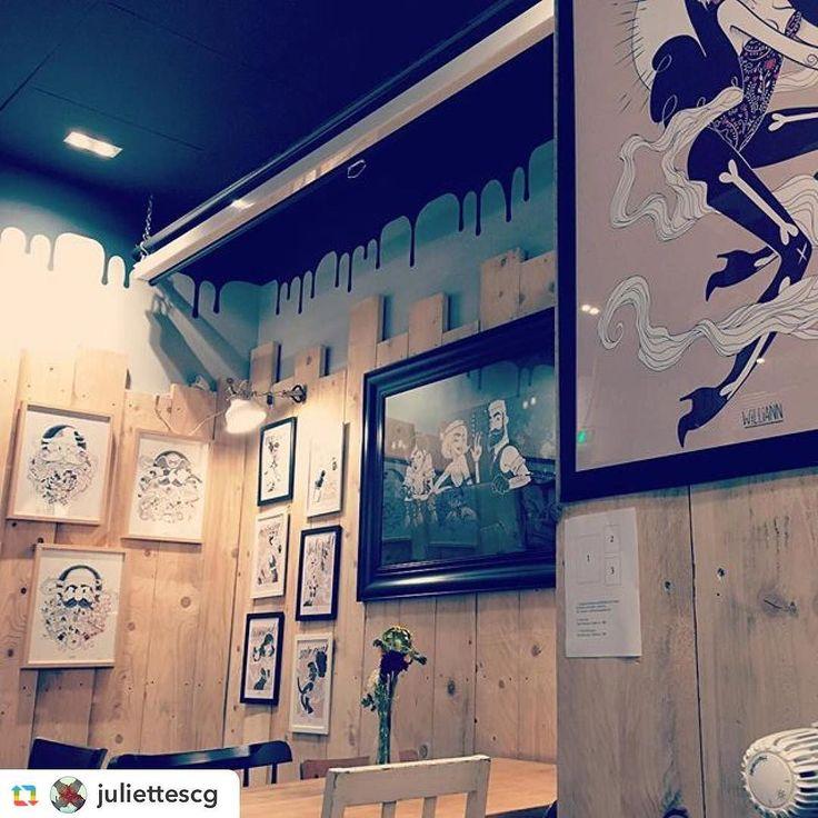#GPRepost#reposter#notetag @juliettescg via @RepostApp ======> @juliettescg:Nice place at @graffalgar  #graffeteria #graffalgar #art #design #hotel #strasbourg #alsace #france #interior #style #beautiful #amazing #original #williann