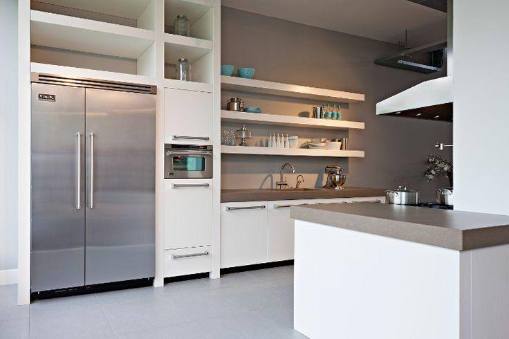Meer dan 1000 idee n over eiken keukens op pinterest keukenkasten hoosier kabinet en keukens - Witte en grijze keuken ...