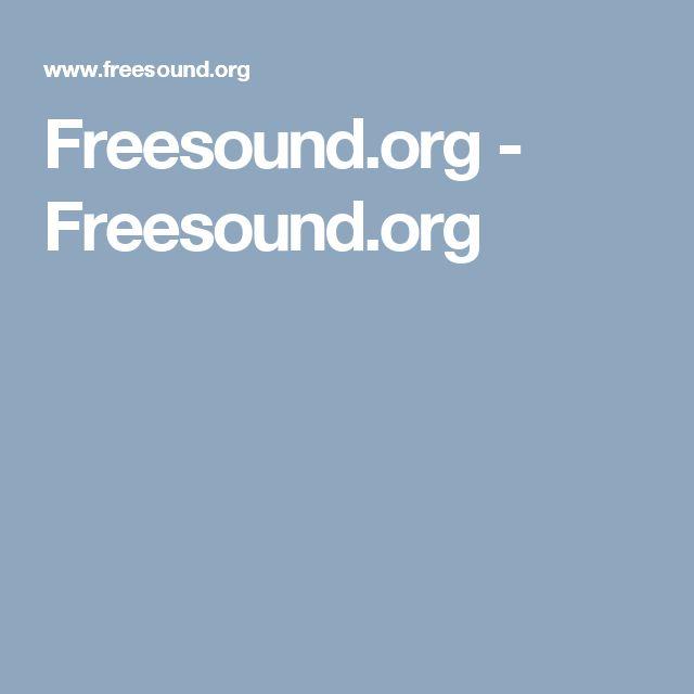 Freesound.org - Freesound.org