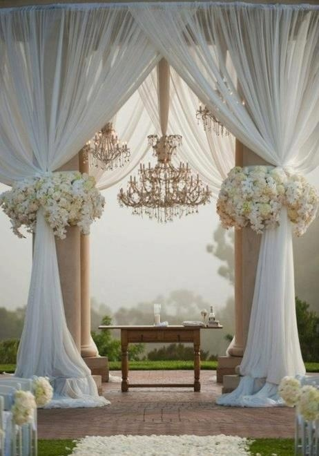 wow an amazing place to hold a wedding ceremony, a little over the top, love the chandelier though
