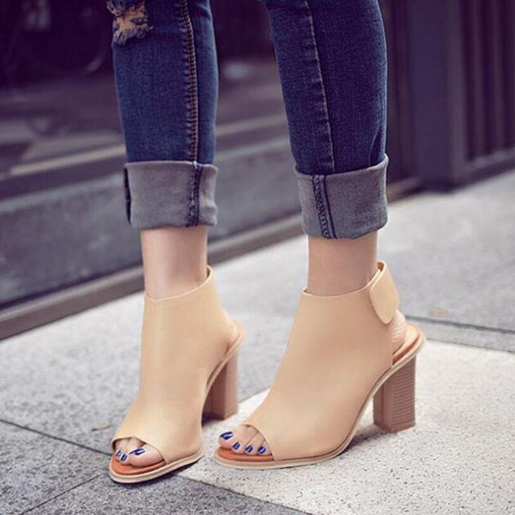 D&Henlu Shoes Woman Summer Gladiator Women Sandals sexy Peep Toe Ankle Strap high heel sandals Gift socks sandalias de salto