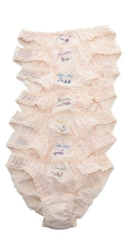 stella mccartney seven day skivvies set (what better way to keep your life in order than a named panty for every day)