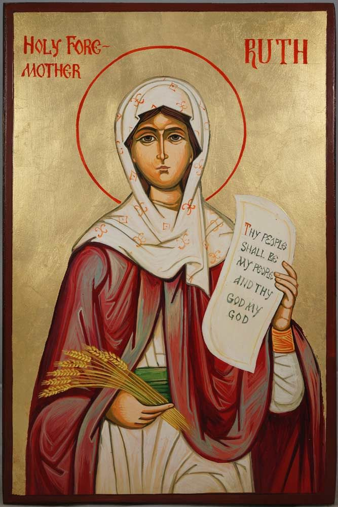 Holy Foremother Ruth Hand-Painted Orthodox Icon