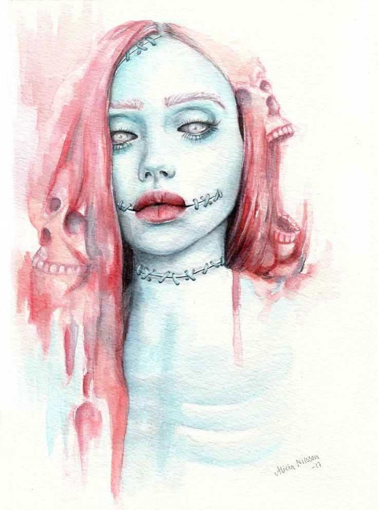 """""""You create your own"""" watercolour monster painting illustration (by Alicia Nilsson)"""