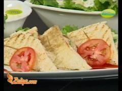 Recipe of Chicken Sandwich And Fruit Salad by Ruby Taj in Dastarkhwan on Zaiqa TV