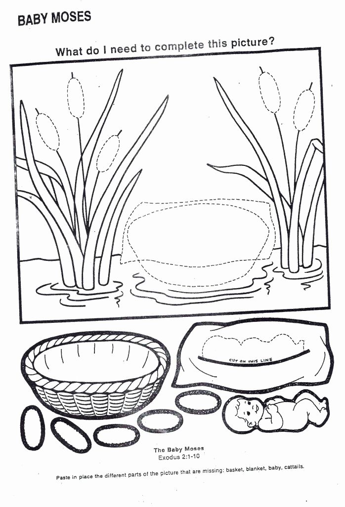 Moses Basket Coloring Page Best Of Baby Moses Activity Sheets