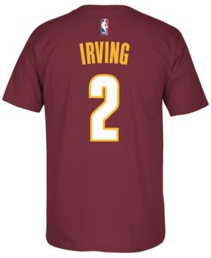 adidas Men's Kyrie Irving Cleveland Cavaliers Player T-Shirt - Red XL