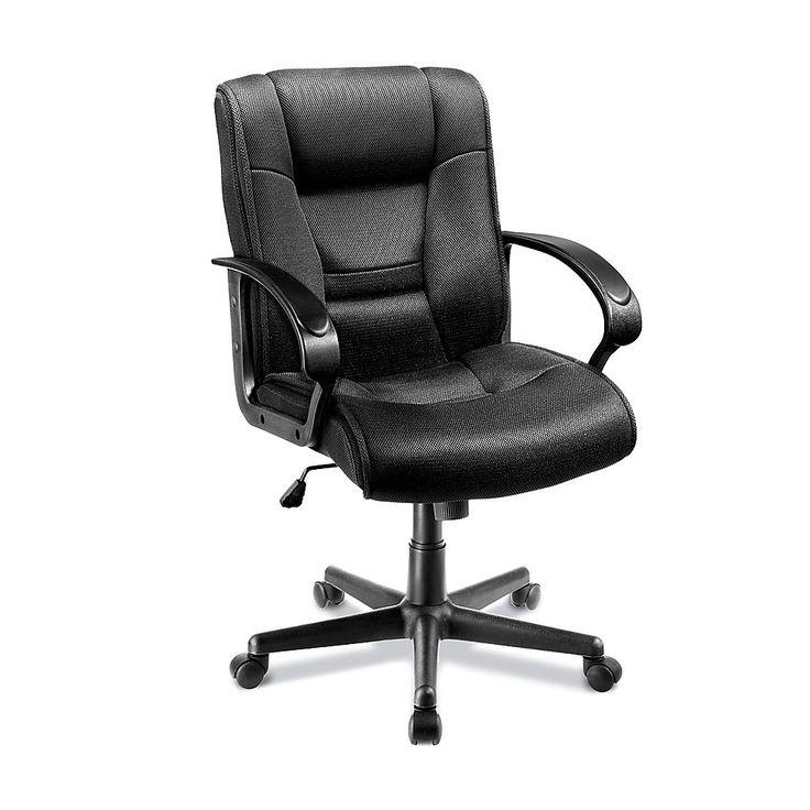 "Ruzzi MidBack Mesh Chair, 37 3/441 1/2""H x 24 1/2""W x 27"