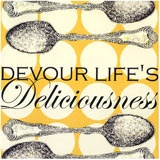 """Cute art for the kitchen!"" -Ashley  Drooz Studio Canvas Wall Art Devour Lifes DeliciousnessKitchens, Decor, Drooz Studios, Canvas Reproduction, Life Delicious, Canvas Art, Canvas Wall Art, Devours Life, Delicious Canvas"