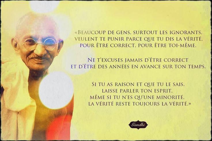 Citations option bonheur: Citation de Gandhi sur la vérité