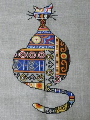 bretagne - breizh - chat - point de croix - cross stitch - Blog : http://broderiemimie44.canalblog.com/