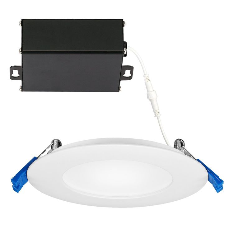 GetInLight 3 Color Dimmable Slim LED Recessed Lighting, 4 Inch, Junction Box Included, 3000K(Soft White), 4000K(Bright White), 5000K(Day Light), White Finished, ETL Listed, IN-0303-12-WH-30-40-50