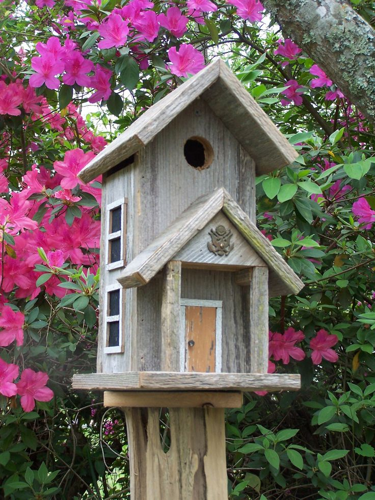 Rustic cedar birdhouse design mom and front doors for Bird house styles