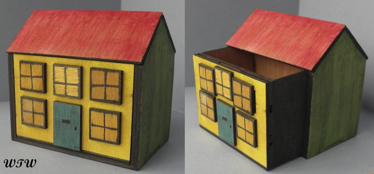 Rupert Bear House Puzzle Box Designed by B. Vinney Made by W.Ware
