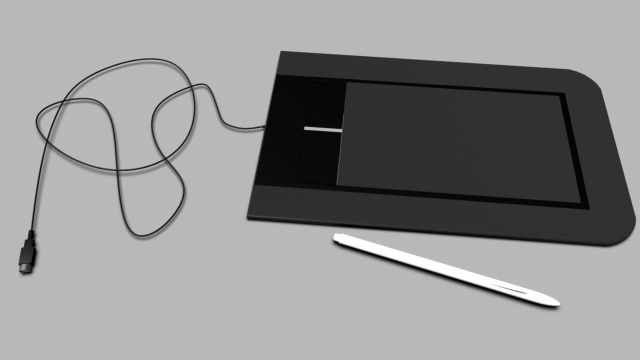 3D Model Bamboo pen and touch c4d, obj, 3ds, fbx, ma, lwo 52176