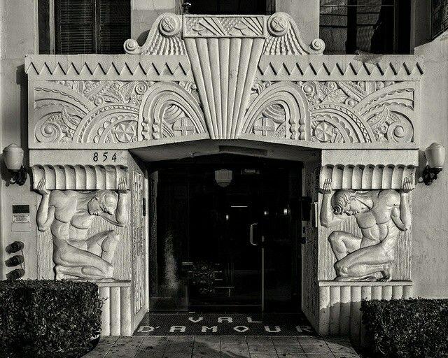 Art Deco ~ Los Angeles | Entrance, Val Du0027Amour Apartment Building, S