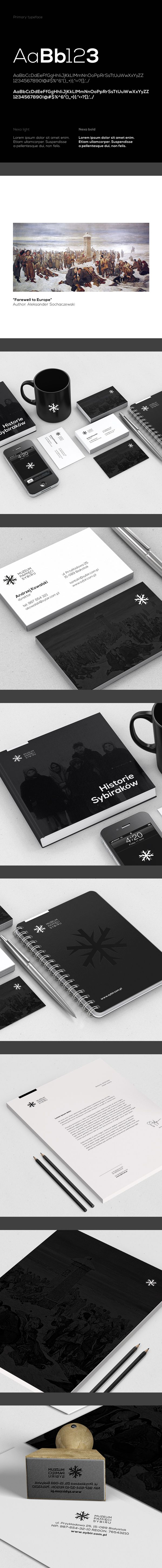 Beautiful work for the Memorial Museum of Siberia - branding by Łukasz Ociepka, via Behance