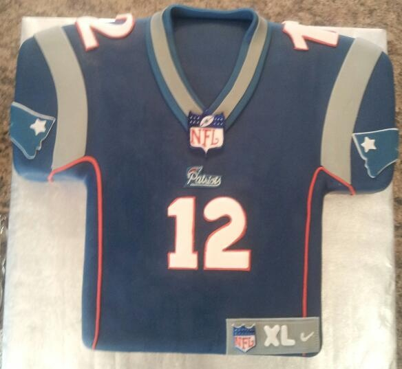 New England Patriots Jersey Cake My Cakes Pinterest